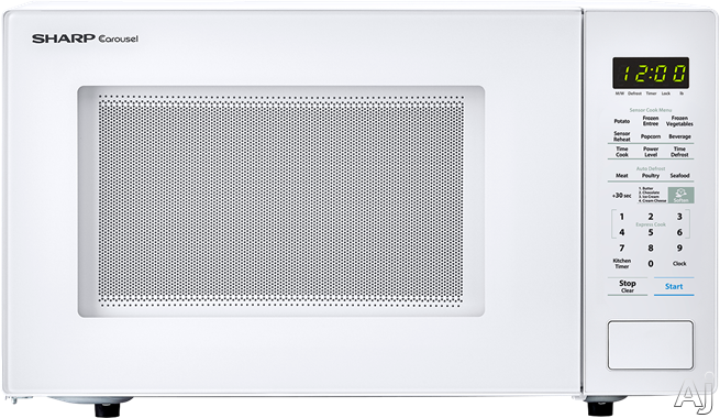 Sharp SMC1441CW 1.4 cu. ft. Countertop Microwave with Sensor Cooking, Express Cook, Auto Defrost, 10 Power Levels, 1,000 Watts and Child Lock: White