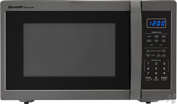 Sharp SMC1452CH 1.4 cu. ft. Countertop Microwave Oven with Premium LCD Display, Sensor Cook, Express Cook, +30 Sec Key, Child Safety Lock, Auto Defrost, 1100 Cooking Watts and 10 Power Levels