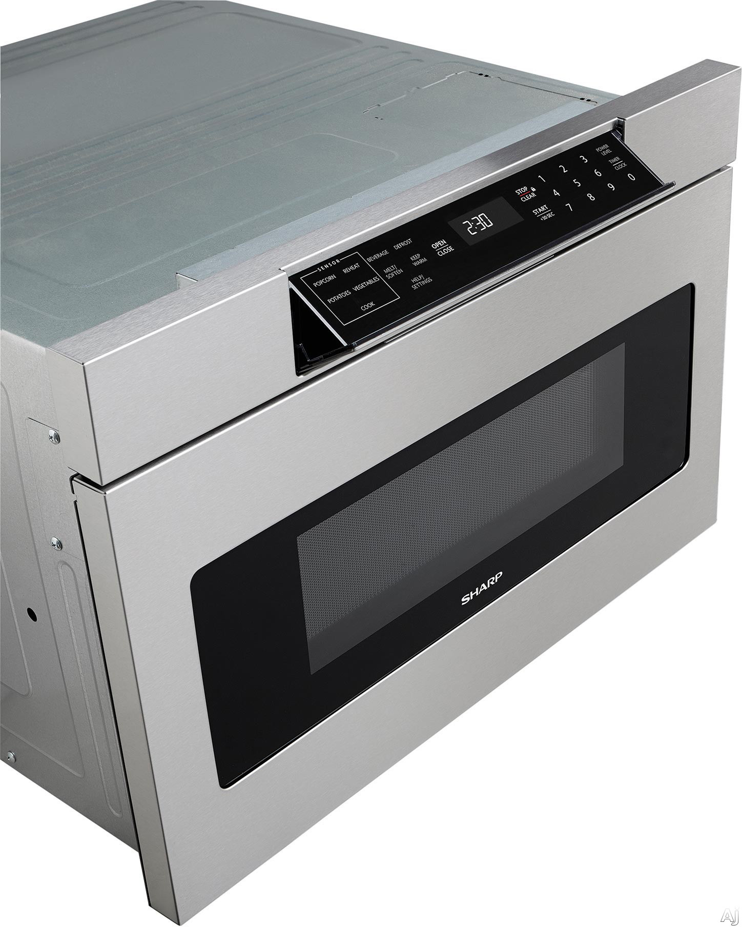 "Sharp Microwave Oven Drawer Sharp SMD2470AS 24"" Microwave Drawer with 1.2 cu. ft ..."