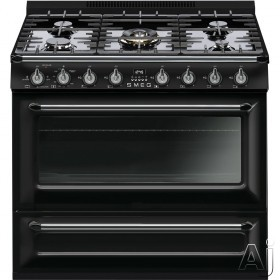 Smeg Victoria TRU36GG 36 Inch Freestanding Gas Range with 6 Burners, Continuous Grates, 4.4 Cu. Ft. True European Convection Oven, 3 Cooking Modes, LP Conversion Kit and Warming Drawer TRU36GG
