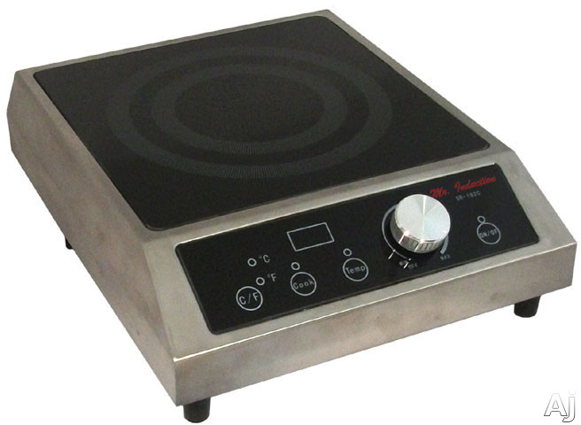 Sunpentown SR182C 13 Inch Countertop Commercial Induction Range with 1,800 Watt Cooking Zone, 20 Power Levels, SmartScan Technology, LED Display and Cook/Temp Indicator Lights