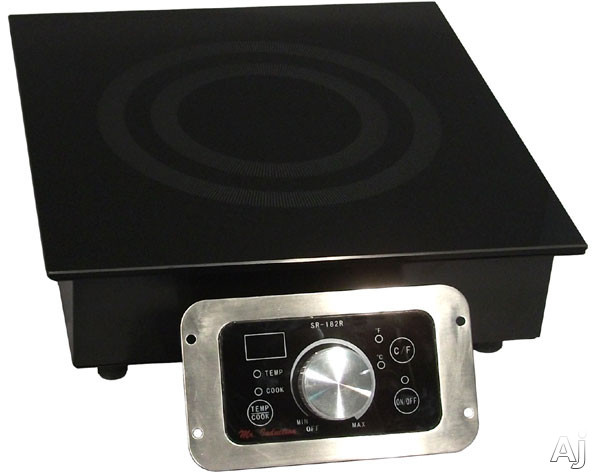 Sunpentown SR343R 13 Inch Built-in Commercial Induction Range with 3,400 Watt Cooking Zone, 20 Power Levels, SmartScan Technology, Touch Pad/Knob Controls and LED Display