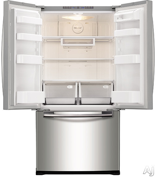 Samsung Refrigerator White French Door Samsung RF18HFENBSR 32 Inch Freestanding French Door ...