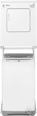 Picture of Amana AMWADREW5 Stacked Washer  Dryer Set with Top Load Washer and Electric Dryer in White