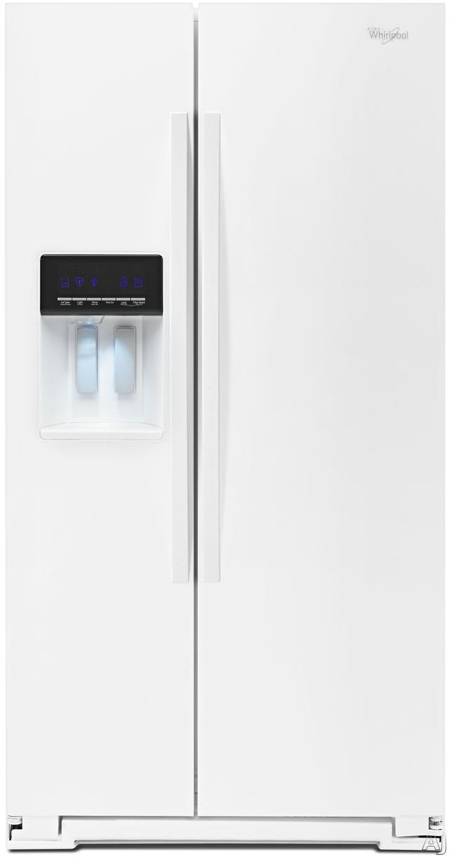 Whirlpool WRS576FIDW 36 Inch Side-by-Side Refrigerator with 25.6 cu. ft. Capacity, 4 Glass Shelves, Humidity Controlled Drawer, AccuChill Temperature Management, FreshFlow Filter, PUR Filtration, External Ice and Water Dispenser and Energy Star Rated: Wh