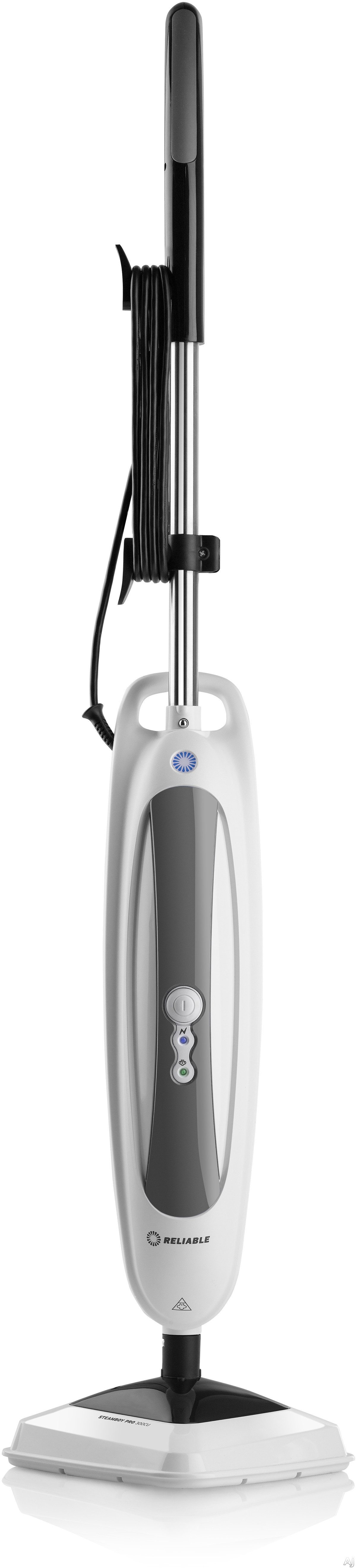 Reliable 300CU Steamboy Pro 300CU Steam Mop with 180-Degree Swivel Head, Powerful Scrubber, Carpet Sanitizing, Microfiber Pads, Removable Water Tank, 245-Degree Steam Temperature and Chemical Free Cleaning