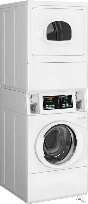 Speed Queen STEBCASP173TW01 27 Inch Commercial Electric Laundry Center with Micro Display Control, Coin Box, 3.42 cu. ft. Washer Capacity, 3 Wash Cycles, 7.0 cu. ft. Dryer Capacity and 4 Dry Cycles STEBCASP173TW01