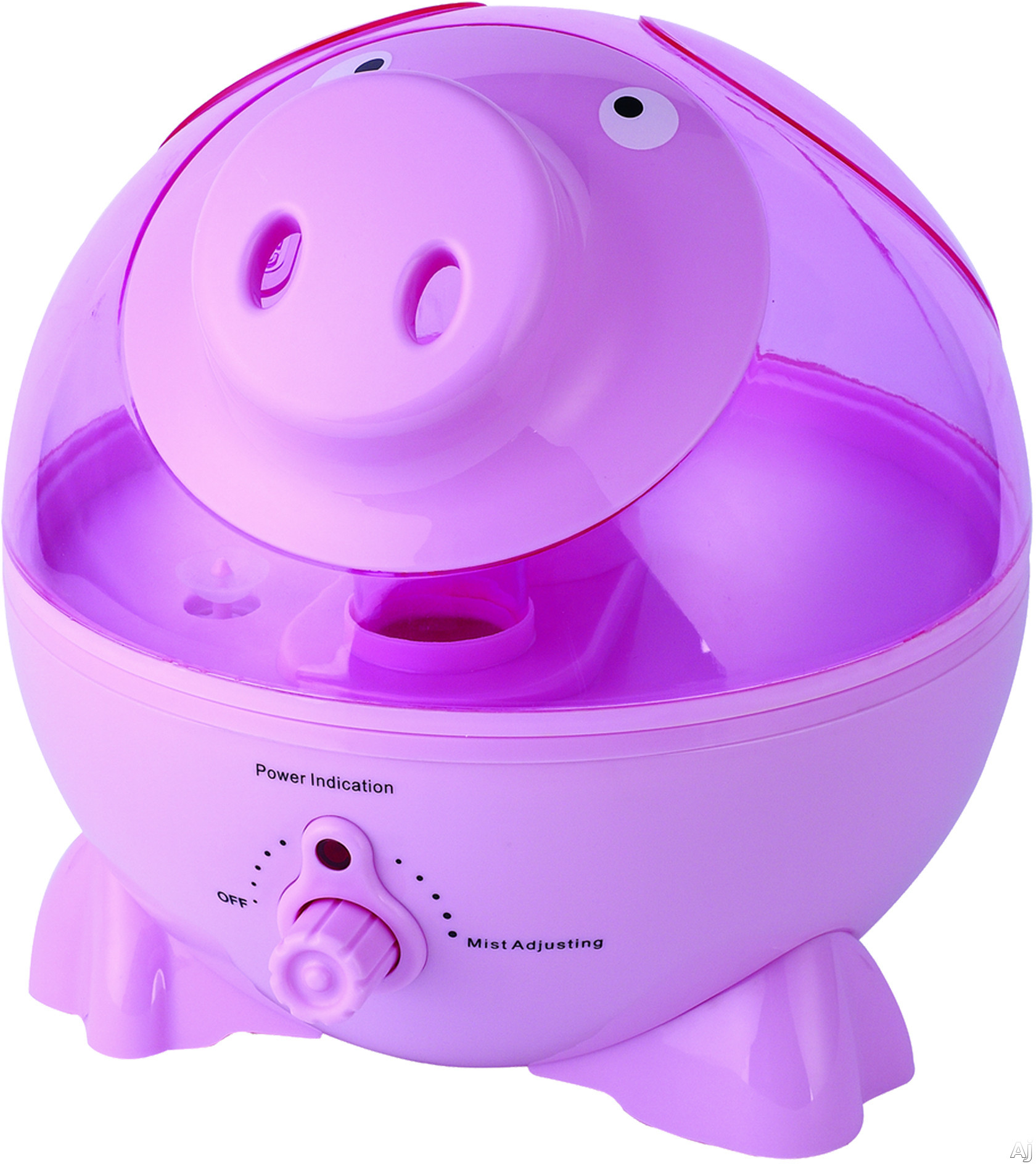 Evaporative Air Cooler with Humidifier Rotary Knob Controls: Pink Pig #770047