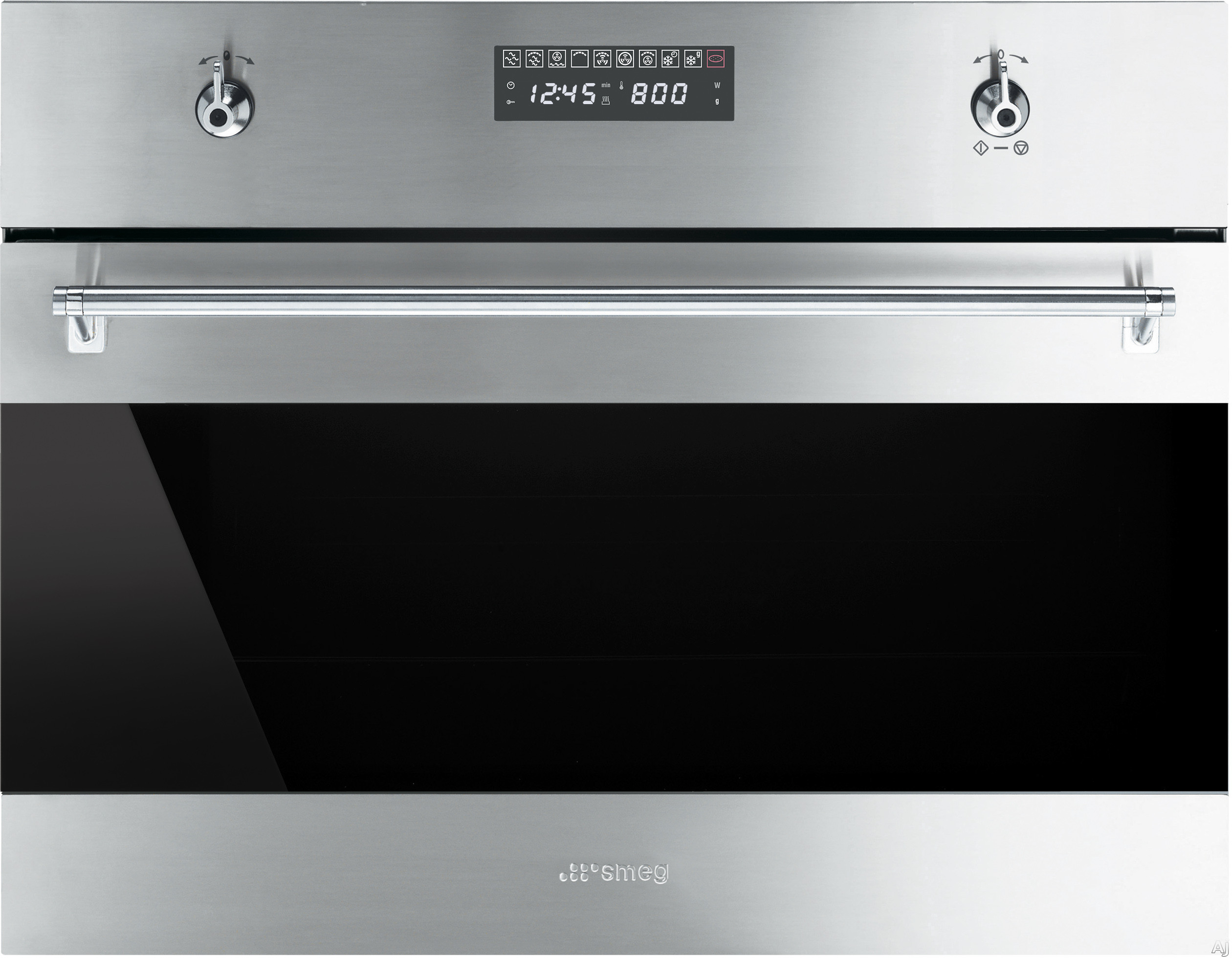 Smeg Classic Design SU45MCX1 24 Inch Built-in Speed Oven with 1000W Microwave, 1.2 cu. ft. Capacity, 10 Cooking Modes, 5 Power Levels, True Convection, Self-Clean and Safety Lock