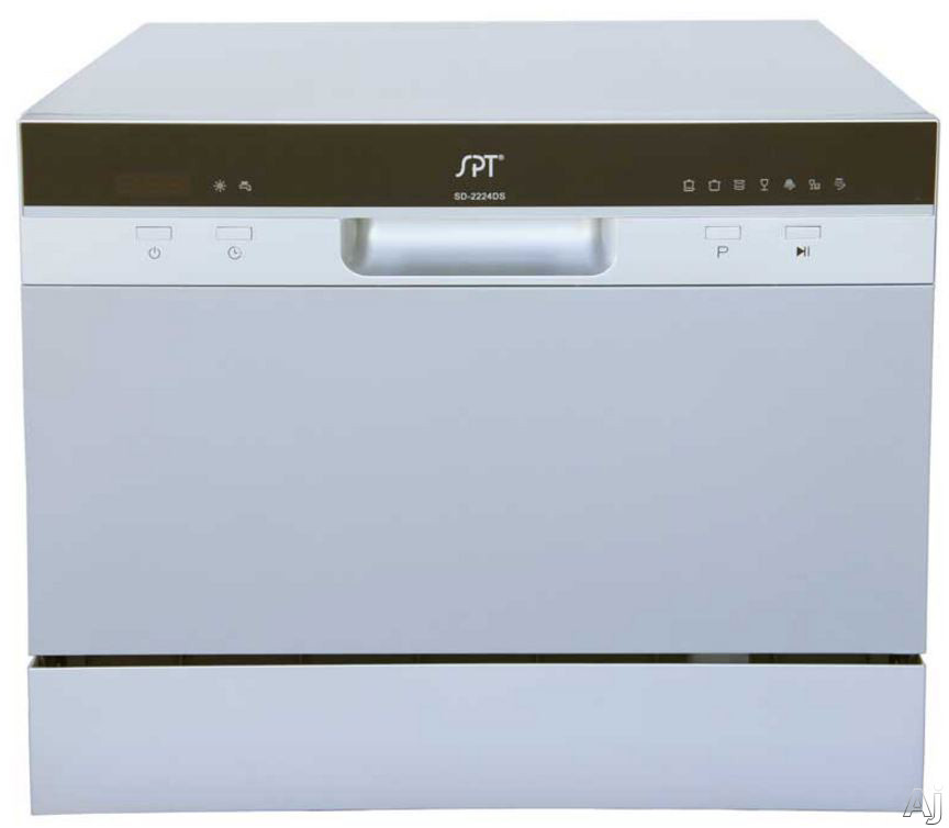 Sunpentown SD2224D Full Console Countertop Dishwasher with 7 Wash ...