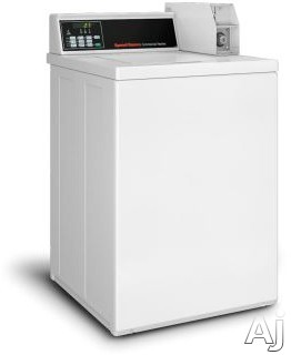 Speed Queen SWNNC2SP115TW02 26 Inch Commercial Top Load Washer with Integrated Meter Case, Four-Vane Agitator, Quantum® Controls, 3 Cycle Selections, Stainless Steel Tub, Triple-Lip Seal, 710 RPM Spin Speed, Digital Display, ADA Compliant and 3.26 cu. f