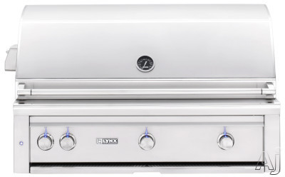 "Lynx Professional Grill Series L42TRLP 42 Inch Built-In Grill with 1,200 sq. in. Cooking Surface, 1 Tridentâ""¢ Burner, 2 Ceramic Burners. Dual Position Rotisserie, Halogen Lighting and Illuminated"