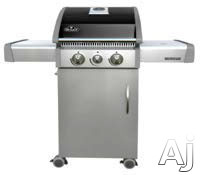 Napoleon Triumph Series T325SBNK 46 Inch Freestanding Gas Grill with 435 sq. in. Cooking Surface, 34,200 BTU Stainless Steel Burners, Side Burner, JetFire Ignition and Cast Iron Cooking Grids: Natural