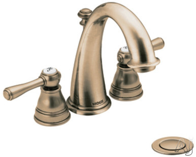 Moen Kingsley T6123AZ Double Lever Lavatory Faucet Trim with 4-3/8