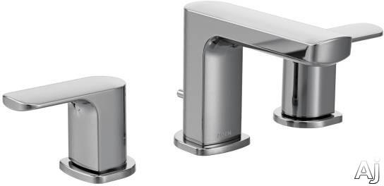 Moen Rizon T6920 Chrome Two-Handle Low Arc Bathroom Faucet