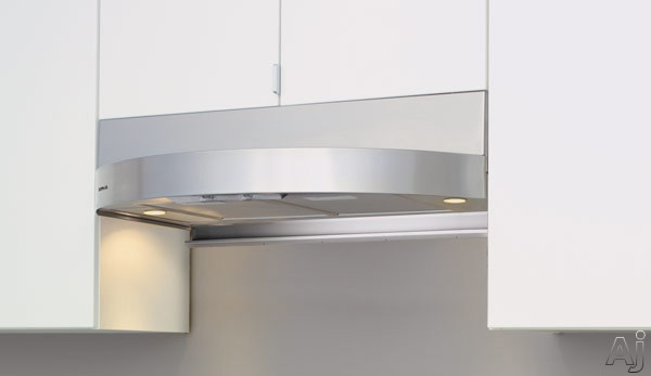 Zephyr Europa Tamburo Series ZTAE30AS Under Cabinet Range Hood with 400 CFM Internal Blower, 3 Speed Levels, Dual-Level Halogen, Adjustable Utensil Bar, Slide Controls and Convertible to Recirculating