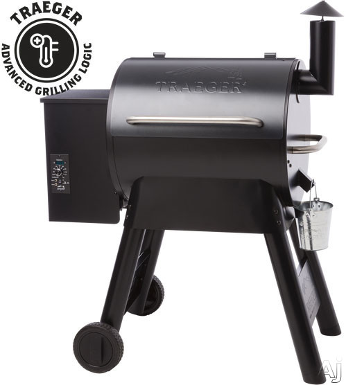 Traeger Pro Series TFB57PUB 40 Inch Freestanding Wood Pellet Grill with 572 sq. in. Grilling Area, 20,000 BTUs, Caster Legs, Meat Probes, One-Button Ignition, Convection Fan, Variable Auger, Automatic Shut Down Cycle and Optional Hardwood Pellets: Blue