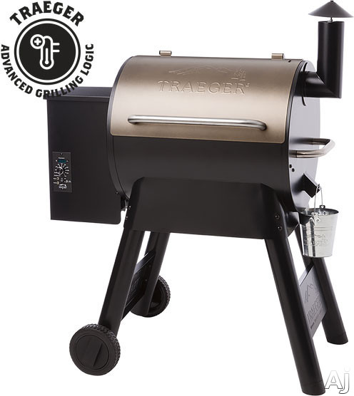 Traeger Pro Series TFB57P 40 Inch Freestanding Wood Pellet Grill with 572 sq. in. Grilling Area, 20,000 BTUs, Caster Legs, Meat Probes, One-Button Ignition, Convection Fan, Variable Auger, Automatic Shut Down Cycle and Optional Hardwood Pellets