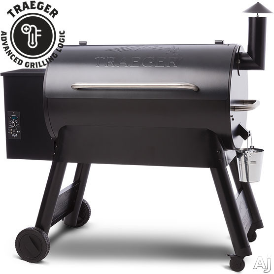 Traeger Pro Series TFB88PUB 52 Inch Freestanding Wood Pellet Grill with 884 sq. in. Grilling Area, 36,000 BTUs, Locking Caster Legs, Meat Probes, One-Button Ignition, Convection Fan, Variable Auger, Automatic Shut Down Cycle and Optional Hardwood Pellets: Blue