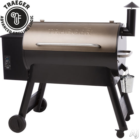 Traeger Pro Series TFB88P 52 Inch Freestanding Wood Pellet Grill with 884 sq. in. Grilling Area, 36,000 BTUs, Locking Caster Legs, Meat Probes, One-Button Ignition, Convection Fan, Variable Auger, Automatic Shut Down Cycle and Optional Hardwood Pellets