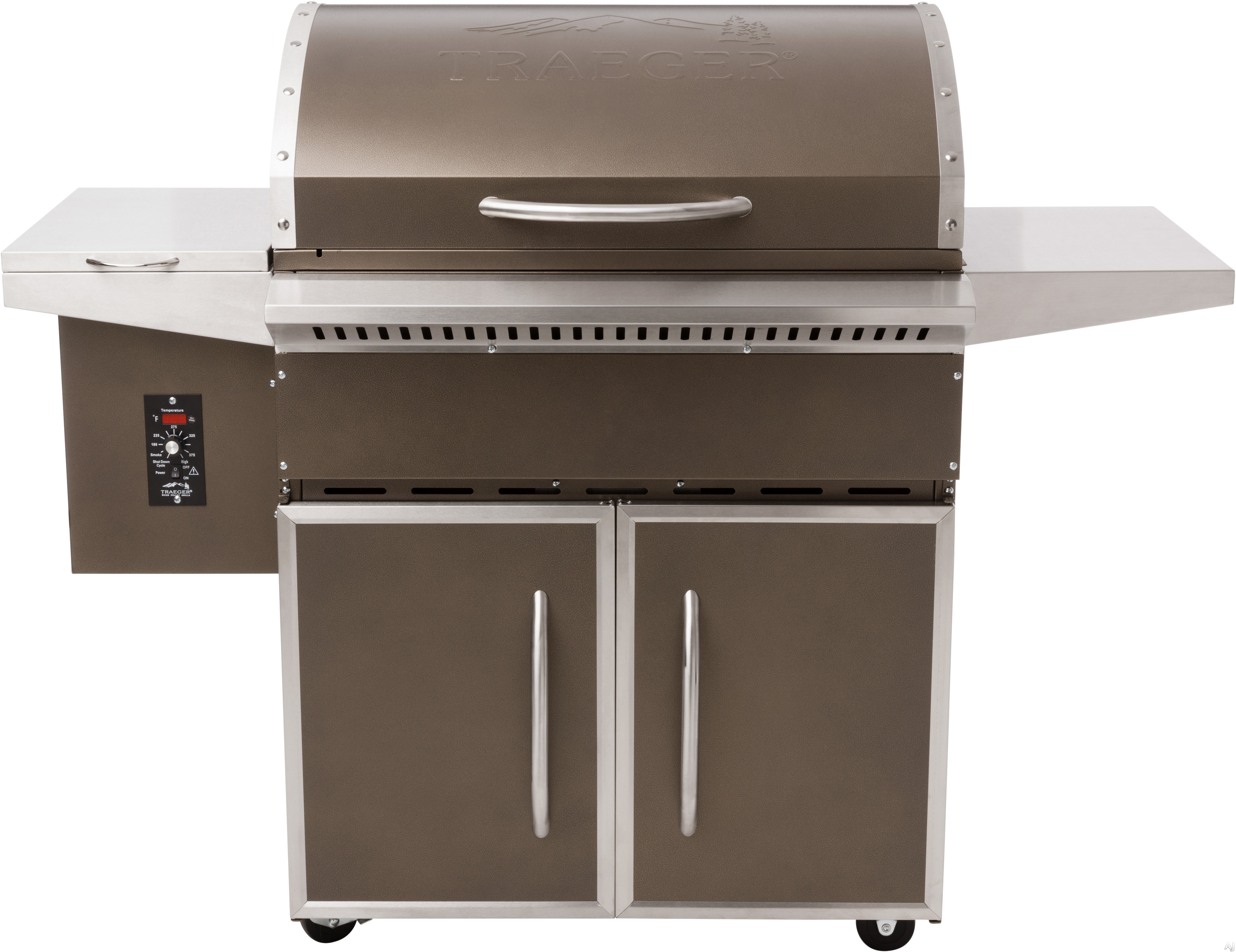 Traeger Select Elite TFS60LZAC 57 Inch Freestanding Wood Pellet Grill with 589 sq. in. Grilling Area, 36,000 BTUs, Locking Caster Legs, One-Button Ignition, Convection Fan, Variable Auger, Automatic Shut Down Cycle and Optional Hardwood Pellets