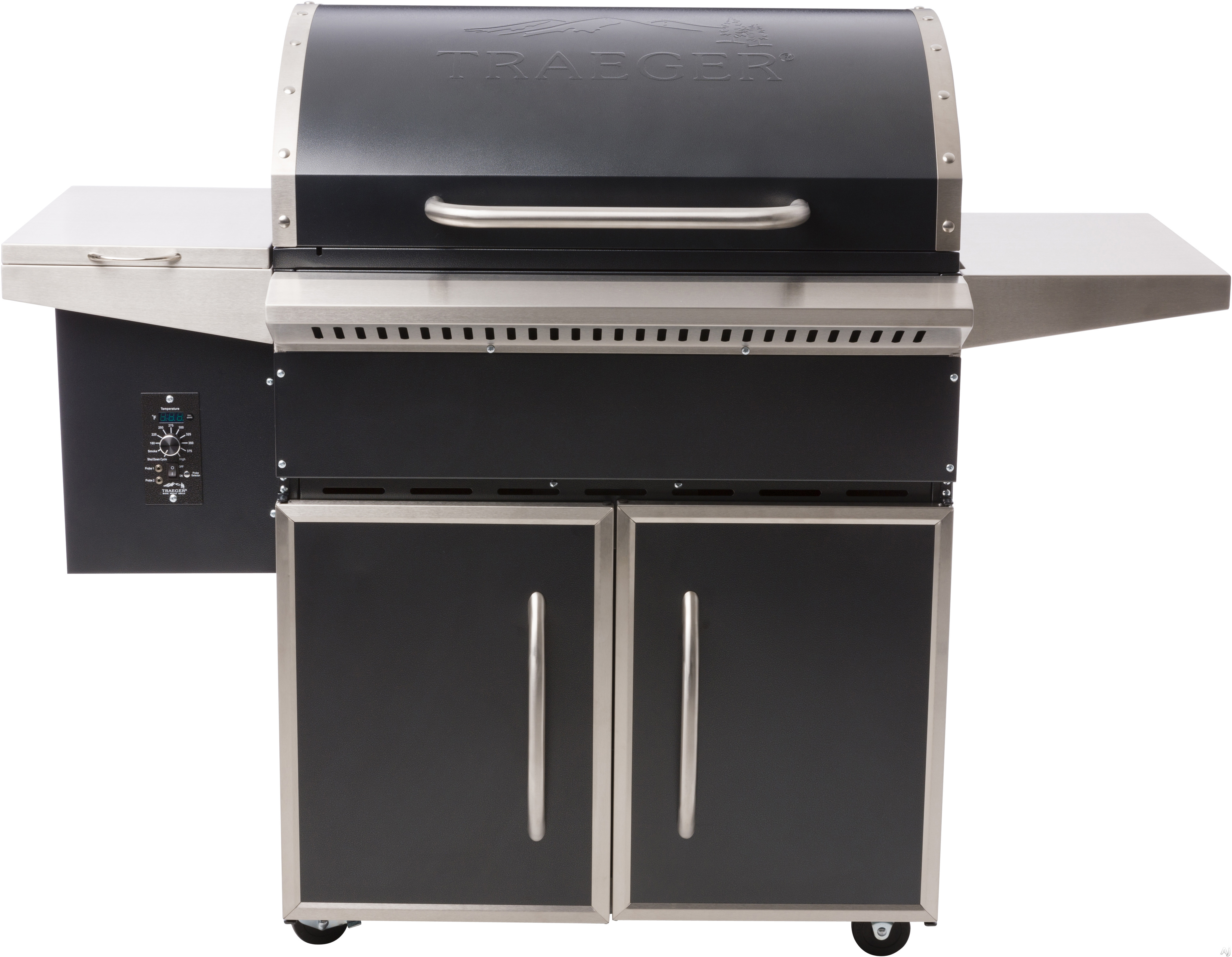 Traeger Select Pro TFS81PUB 57 Inch Freestanding Wood Pellet Grill with Convection, Meat Probes, One-Button Ignition, 806 sq. in. Grilling Area, 36,000 BTUs, Locking Caster Legs, Variable Auger, Automatic Shut Down Cycle and Optional Hardwood Pellets: Blue