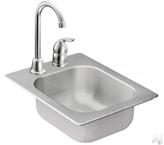 Moen TG2045522 13 in.x17 in. stainless steel 20 gauge single bowl drop in sink