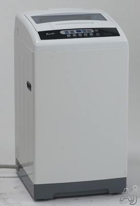 Avanti TLW16D0W 20 Inch Portable Washer with 1.6 cu. ft. Capacity, Stainless Steel Tub, 6 Wash Cycles, Auto Power Off, Electronic Controls, LED Display, 4 Load Size Selections, Lint Filter and See-Through Lid TLW16D0W