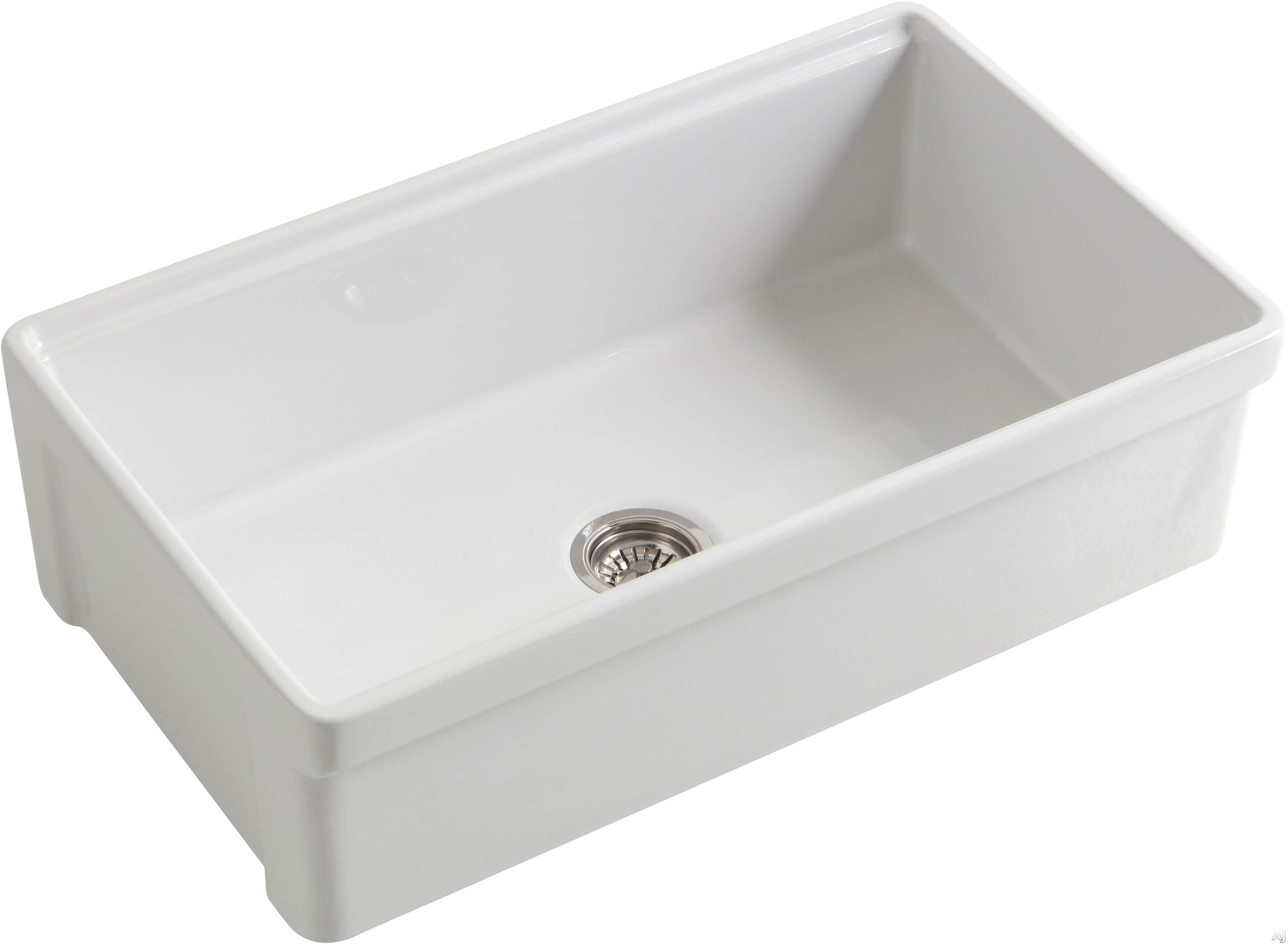 Empire Industries Tosca Collection TO33S 33 Inch Single Bowl Reversible Farmhouse Kitchen Sink with Reversible Farmhouse Design, Integral Accessory Ledge and Fireclay Material