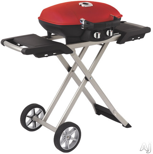 Napoleon Travel Q Series TQ285XRDA 44 Inch Portable LP Gas Grill with ACCU-PROBE, JETFIRE Ignition, Wind Proof, 285 sq. in. Cooking Area, 12,000 Total BTU, 2 Stainless Steel Burners, Cast Iron Grids a