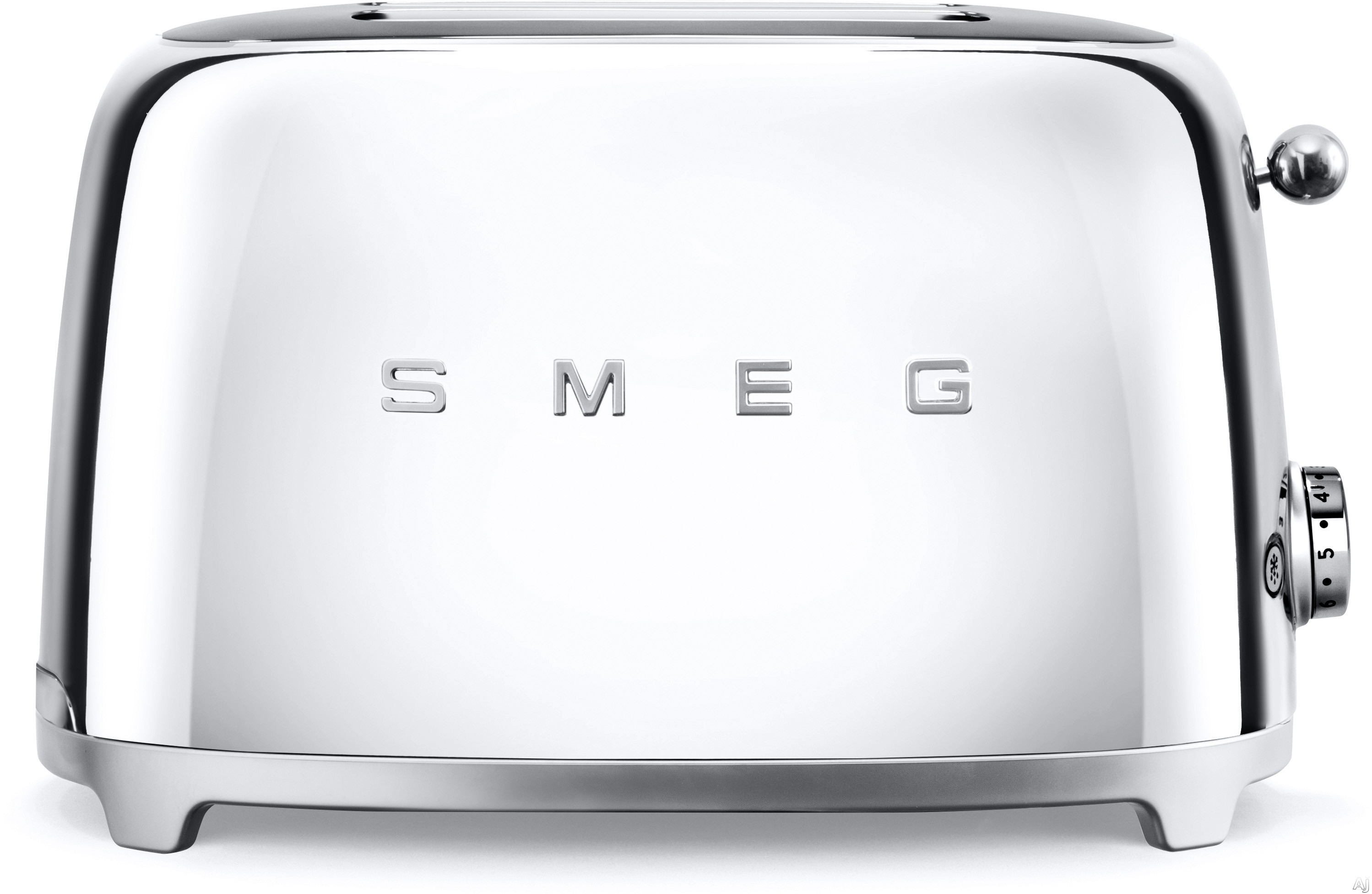 Smeg 50 s Retro Design TSF01SSUS Countertop Toaster with 2 Slice Capacity Defrost Setting Bagel Setting Self Centering Racks Automatic Slice Pop Up and Stainless Steel Crumb Tray Chrome