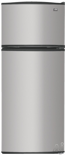 Ice Makers - Estate TT18SKXRD 17.6 Cu Ft Freestanding Top-Freezer Refrigerator With 2 Glass Shelves Humidity Controlled Crisper Clear Meat Pan Optional Ice Maker And Co