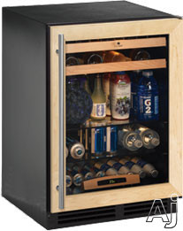 U Line 1000 Series U1224BEVINT00A 24 Inch Built in Beverage Center with 54 cu ft Capacity 85 12 oz Bottle Capacity 105 12 oz Can Capacity 16 Wine Bottle Capacity LED Lighting and Star K Certified Overlay Frame