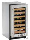 U-Line Wine Captain 2000 Series U2218WCS01A 18 Inch Built-in Wine Storage with 31 Bottle Capacity, LED Lighting, Digital Touch Pad Control, Natural Beech Wood Fronts, Convection Cooling System and Star-K Certified Sabbath Mode: Stainless Steel Left Hand H