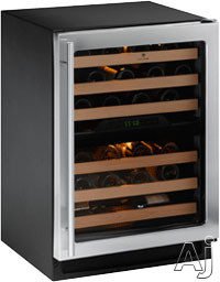U-Line Wine Captain 2000 Series U2224ZWX 24 Inch Built-in Wine Storage with 43 Bottle Capacity, Dual-Zone Temperature System, Digital Touch Pad Control, LED Lighting and Star K Certified