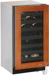 U-Line 3000 Series U3018WCINT00B 18 Inch Built-in Wine Storage with 31 Bottle Capacity, Single Zone Convection Cooling System, LED Theater Lighting, Vinyl Coated Wine Racks, U-Select Control, Integrated OLED Display, Sabbath Mode and Star-K Certified: Frame Overlay