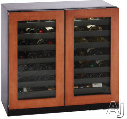 U-Line 3000 Series U3036WCWCINT00A 36 Inch Built-In Wine Storage with 62 Bottle Capacity, LED Theater Lighting, Dual Zone Temperature Control, Flexible Storage, Star-K Certified Sabbath Mode and U-Select Controls: Custom Overlay
