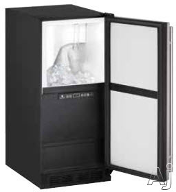 U-Line 1000 Series UCLR1215INT00A 15 Inch Undercounter Clear Ice Maker with 30 Lbs. Ice Storage Capacity, 60 Lbs. Daily Ice Production, Interior LED Lighting, Silent Mode, Ice Scoop Included and Cleaning Indicator Alert: Solid Overlay