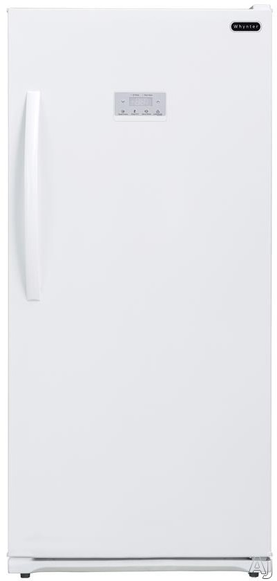 Whynter UDF138DW 13.8 cu. ft. Upright Freezer with 4 Sliding Shelves, 1 Slide-Out Basket, Quick Freeze, Open-Door Alarm, LED Interior Lighting and Digital Temperature Display