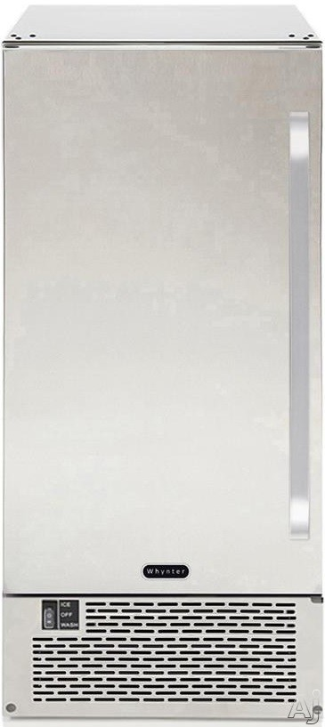 Whynter UIM502SS 15 Inch Freestanding/Built-In Ice Maker with 50 Lbs. Daily Ice Production, 25 Lbs. Storage Capacity, Auto Shutoff, Reversible Stainless Steel Door, Ice Scoop, Manual Defrost and ENERGY STAR Certification