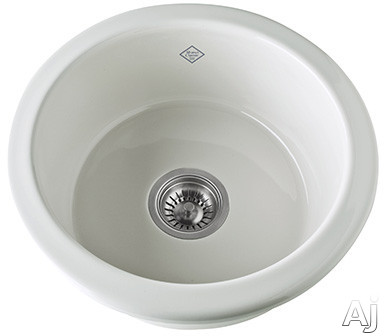 Rohl Shaws Original UM1807 18.25 Inch Under Mount Single Bowl Fireclay Sink with 6.25 Inch Internal Depth and Standard 3.5 Inch Drain Opening
