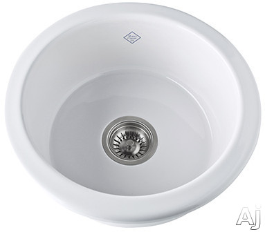 Rohl Shaws Original UM1807WH 18.25 Inch Under Mount Single Bowl Fireclay Sink with 6.25 Inch Internal Depth and Standard 3.5 Inch Drain Opening: White
