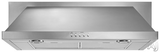 Maytag UXT5530AAS 30 Inch Under Cabinet Range Hood with 400 CFM Centrifugal Blower, 3 Push-Button Fan Speeds, Damper, Power Cord Included, Dual Halogen Lighting and Convertible to Recirculating: Stainless Steel