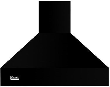 Viking Professional 5 Series VCWH53648BK 36 Inch Wall Mount Chimney Range Hood with Optional Blowers, Variable Fan Speeds, Heat Sensor, Heat Lamp, LED Lighting, LED Knobs and Commercial-Type Filters: Black VCWH53648BK