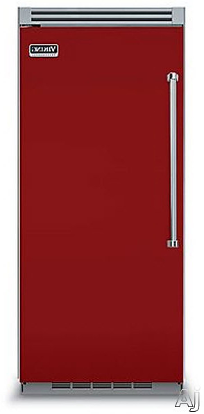 Viking Professional 5 Series VCRB5363LAR 36 Inch Built-in All Refrigerator with 4 Spillproof Glass Shelves, 5 Door Bins, Humidity Controlled Drawers and Plasmacluster Ion Air Purifier: Apple Red, Left Hinge