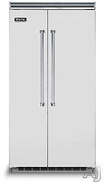 Viking Professional 5 Series VCSB5423SS 42 Inch Built-in Side by Side Refrigerator with 25.3 cu. ft. Capacity, Spillproof Adjustable Glass Shelves, Adjustable Aluminum Door Bins, 2 Humidity Zones, 2 Deli Drawers, Odor Eliminator Evaporator, Air Purifier, Sabbath Mode and ENERGY STAR: Stainless