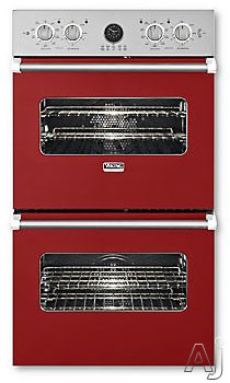 Viking Professional Premiere Series VEDO5272AR 27 Inch Double Electric Wall Oven with 4.1 cu. ft. Vari-Speed Dual Flow Convection Ovens, Self-Clean, Infrared Broiler, 10-Pass Dual Bake Element and Mea
