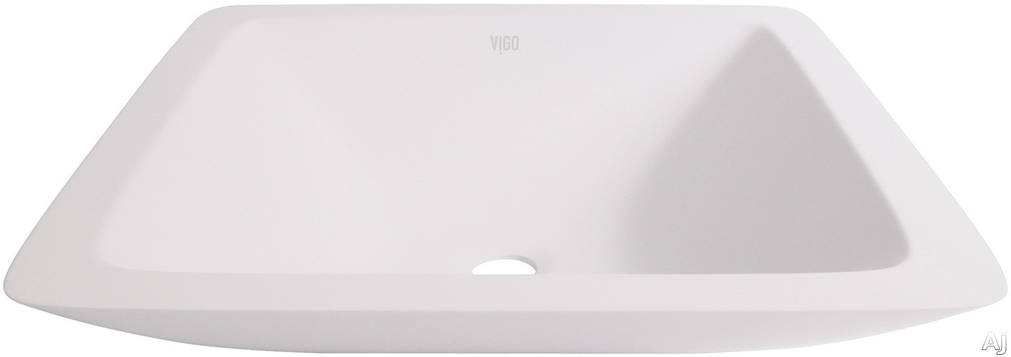 Vigo Industries Vessel Sink Collection VG04006 Begonia Matte Stone Vessel Bathroom Sink with Solid Core Construction, Hand Polished and Scratch Resistant