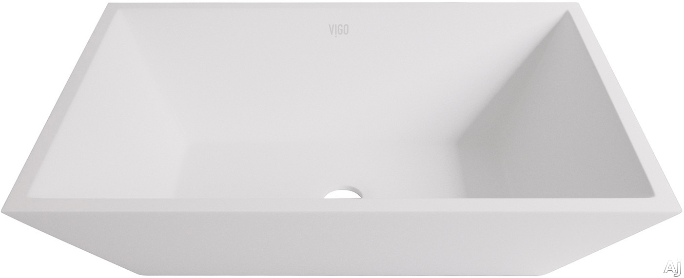 Vigo Industries Vessel Sink Collection VG04007 Vinca Matte Stone Vessel Bathroom Sink with Solid Core Construction, Hand Polished and Scratch Resistant