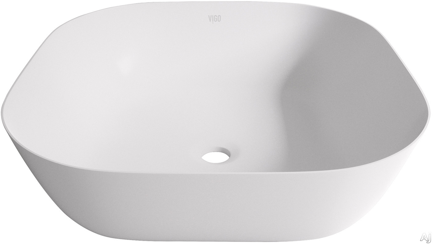 Vigo Industries Vessel Sink Collection VG04008 Camellia Matte Stone Vessel Bathroom Sink with Solid Core Construction, Hand Polished and Scratch Resistant